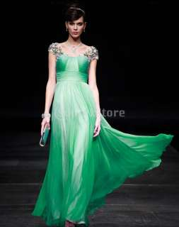 Noble Women Charm Chiffon Cocktail Long Formal Prom Dress Evening Gown