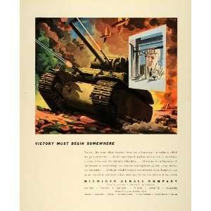 1942 Ad Michigan Alkali Chemical Engineering WWII War
