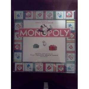 2004 Monopoly 16 Month Calendar Hasbro 2003 Books