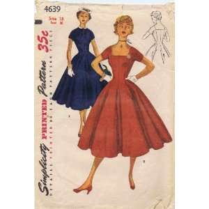 : Simplicity 4639 Vintage Sewing Pattern Womens Princess Seamed Dress