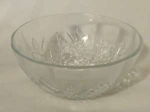 Vintage Pasari Indonesia Crystal Clear Glass Bowl Berry Dish Rose 5