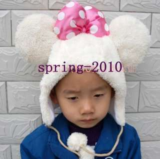 Disney Cartoon kid child adult Animal Mickey Mouse Plush Cap hat white