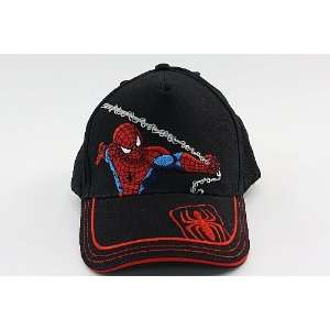 Spider Man Boys Black Baseball Hat Cap Toys & Games