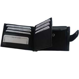 Mens Leather Wallet Credit Card Case Bifold#159 803698920724