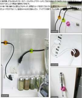 Computer USB Cable Drop Cord Wire Clip Line Holder