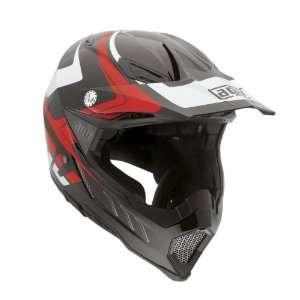 AGV AX 8 EVO Klassik Off Road Motorcycle Helmet Black/White/Red Large