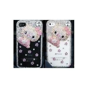 Crystal Hello Kitty Style iPhone 4G Hard Case/Cover