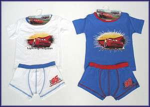 Disney Pixar Cars Boys Underwear Set Boxer Trunks Briefs T Shirt 2 3 4