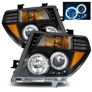 Nissan Pathfinder CCFL Halo Projector Headlights   Black Automotive