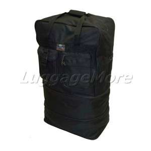 40 BLACK LARGE SPINNER ROLLING WHEELED DUFFEL BAG EXPANDABLE LUGGAGE