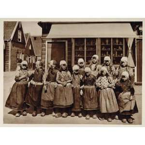 c1930 Dutch Children National Costume Marken Holland
