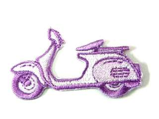 SCOOTER CAR BIKE CUTE IRON ON PATCH EMBROIDERED I401