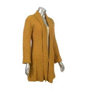 Sutton Studio Womens Wave Wrap Long Cardigan Topper