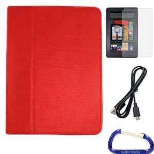 Gizmo Dorks Faux Leather Folio Case (Red), Screen