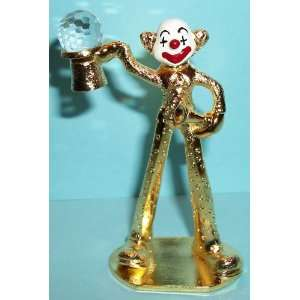 Spoontiques Pewter Painted Face Gold Clown on Stilts: Everything Else