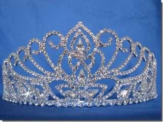 Bridal Wedding Crown Veil Pageant Homecoming Prom Crystal Tiara D8598