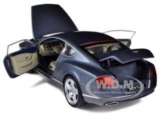 diecast car model of 2011 bentley continental gt metallic grey die