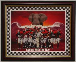 ALABAMA FOOTBALLROLLING WITH THE TIDE FRAMED PRINT