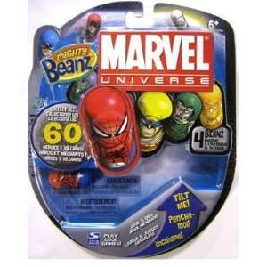 Mighty Beanz Marvel 4 Pack Spider Man: Toys & Games