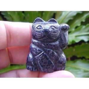 Gemqz Lapis Lazuli Carved Lucky CAT Left Paw Cute