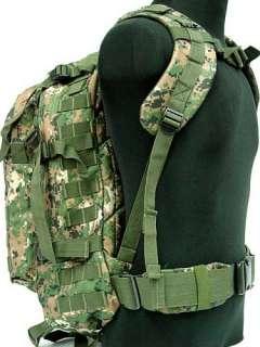 Day Molle Assault Backpack Bag Digital Camo Woodland