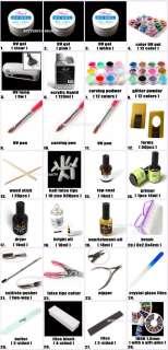 Nail art UV gel Lamp Pen Color Gel False Tips Kit ZZ