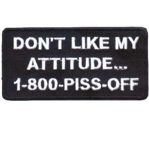 LIKE MY ATTITUDE Funny Quality Biker Vest Patch!!: Everything Else