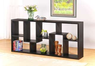 Black Modern Wood Bookcase / Display Shelf