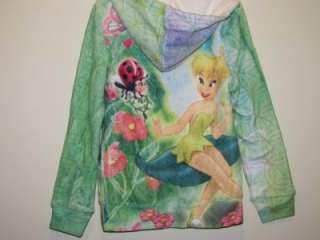 TINKERBELL Soft Fleece Hoodie Sweater Jacket, Sz 4, 5, 6, 6X