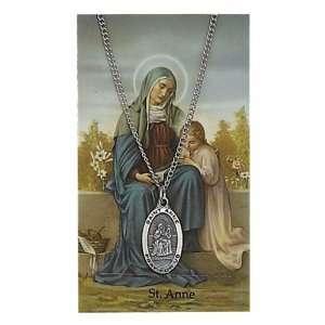 & Saint Gift Set PSD500AE St. Saint Anne Prayer Card Set Jewelry