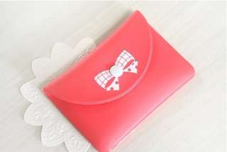 Fashion Women Cute bowknot clasp Wallet Purse Coin Bag card bag S008