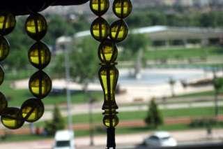 CHERRY AMBER BAKELITE PRAYER BEADS WITH 1000 STERLING TASSEL