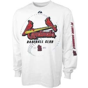 Majestic St Louis Cardinals Youth White Baseball Club Long