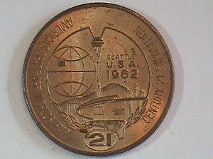 1962 Seattle World Fair One Dollar In Trade Medal