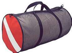 duffle bag, mesh with dive flag , snorkel bag scuba diving equipment