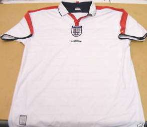 ENGLAND UMBRO 2004 FOOTBALL SOCCER SHIRT JERSEY XL BOYS