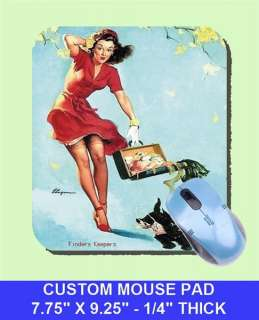 sexy GIL ELVGREN Pinup Girl Mouse Pad FINDERS KEEPERS