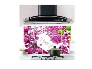 New Stylilsh Kitchen Anti oil Oil proof Rose Decal Wall Oil Sticker