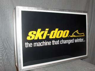 SNOWMOBILE vintage ski doo change/W illuminated sign