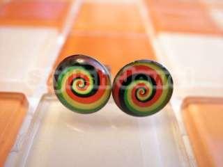 20g 0.8mm Hot New Style 2012 Steel Fake Ear Plugs Earrings Stud