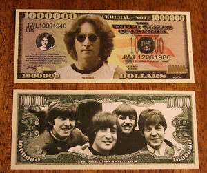 THE BEATLES JOHN LENNON ENGLISH ROCK MUSICIAN 1,000,000