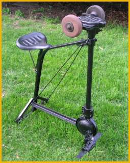 Antique Wrought Cast Iron Luther Pedal Grinder Stone VG
