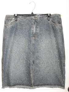 Womens VENEZIA Long Jean Denim Skirt Size 14