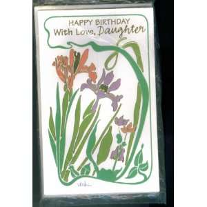 PACKAGE OF 7 CARDS WITH ENVELOPES. HAPPY BIRTHDAY WITH LOVE DAUGHTER