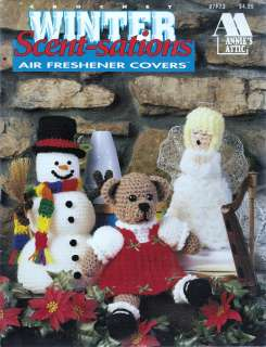SATIONS AIR FRESHENER COVERS CROCHET BOOK CHRISTMAS   ANNIES ATTIC