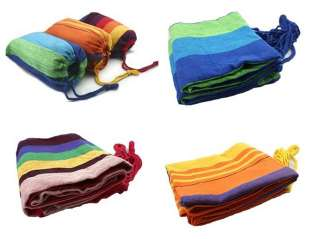 New Canvas/Nylon Hammock Hang Sleeping Bed Outdoor Camping Travelling