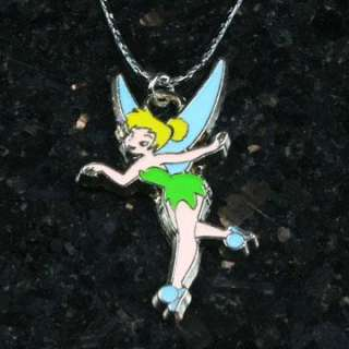 Bell Tinkerbell Fairy Charm Pendant Necklace Girls Birthday Party Gift