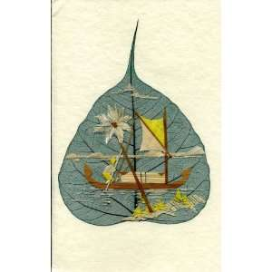 Handmade Greeting Card Fathers Day   Row Boat