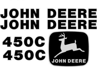 John Deere 450C Crawler Dozer Decal Set Whole Machine