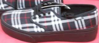 Womens Size 10.5 ( SCBK12 2 ) PAITYN Black Plaid VANS Shoes